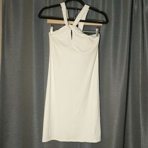 White spandex athleta dress